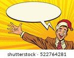 hello businessman christmas... | Shutterstock .eps vector #522764281