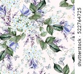watercolor pattern with forget... | Shutterstock . vector #522764725