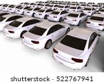 Stock photo  d render image representing a fleet of cars cars fleet 522767941