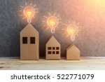 house concept with house shape... | Shutterstock . vector #522771079