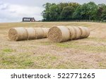 rolls of hay in a field  this... | Shutterstock . vector #522771265