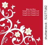 vector background with flowers. | Shutterstock .eps vector #52277182