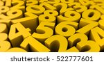 abstract 3d numbers background... | Shutterstock . vector #522777601