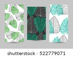set of three seamless backdrops ... | Shutterstock .eps vector #522779071