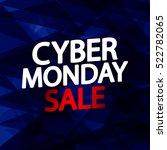 cyber monday sale  banner... | Shutterstock .eps vector #522782065
