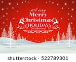 christmas greeting card. merry... | Shutterstock .eps vector #522789301