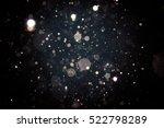 abstract blur black bokeh... | Shutterstock . vector #522798289
