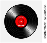 vintage vinyl record. vector... | Shutterstock .eps vector #522806851