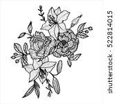 vintage vector floral... | Shutterstock .eps vector #522814015