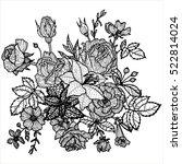 vintage vector floral... | Shutterstock .eps vector #522814024