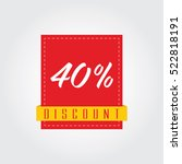 40   forty percent discount... | Shutterstock .eps vector #522818191