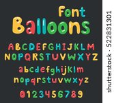 balloons font alphabet | Shutterstock .eps vector #522831301