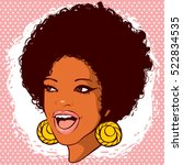 african american woman with... | Shutterstock .eps vector #522834535