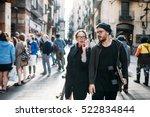 the lovely couple in love... | Shutterstock . vector #522834844