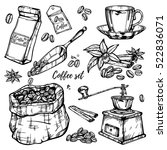 hand drawn vector illustration... | Shutterstock .eps vector #522836071