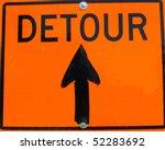 orange detour sign   Shutterstock . vector #52283692