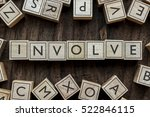Small photo of the word of INVOLVE on building blocks concept