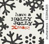 merry christmas grunge postcard.... | Shutterstock .eps vector #522846205