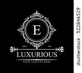 luxury logo template in vector... | Shutterstock .eps vector #522846529