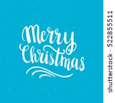 christmas card template. hand... | Shutterstock .eps vector #522855511