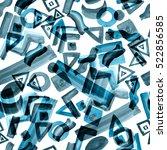 monochrome abstract pattern... | Shutterstock . vector #522856585