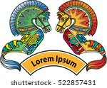 flat horse  kuda lumping  is...   Shutterstock .eps vector #522857431
