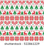 new year's christmas pattern... | Shutterstock .eps vector #522861229