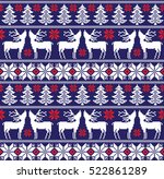 new year's christmas pattern... | Shutterstock .eps vector #522861289