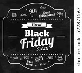 great black friday chalkboard...   Shutterstock .eps vector #522871567
