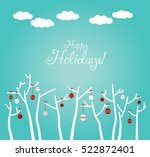 cute winter holiday background...