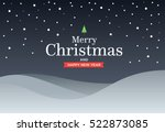 classic marry christmas... | Shutterstock .eps vector #522873085