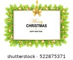 merry christmas frame with bow  ... | Shutterstock .eps vector #522875371