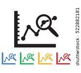 data analysis icon. business... | Shutterstock .eps vector #522882181
