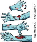 Zombie Hands. Vector Clip Art...