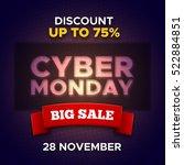 cyber monday sale promo vector... | Shutterstock .eps vector #522884851