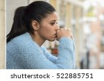young beautiful sad and... | Shutterstock . vector #522885751