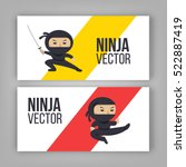 set of ninja characters showing ... | Shutterstock .eps vector #522887419