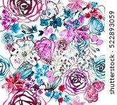 seamless background flowers.... | Shutterstock .eps vector #522893059