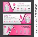 cosmetics banner designtemplate ... | Shutterstock .eps vector #522900505