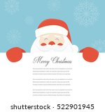 christmas card with santa claus.... | Shutterstock .eps vector #522901945