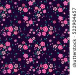 cute floral pattern in the... | Shutterstock .eps vector #522904657