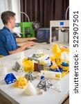 high school students working on ... | Shutterstock . vector #522907501