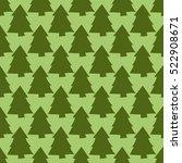 Seamless Pattern With Green Fi...