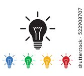 bulb icon. business icons set... | Shutterstock .eps vector #522908707