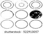grunge stamp draft mockups set... | Shutterstock .eps vector #522913057