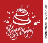 happy birthday card design with ... | Shutterstock .eps vector #522914209