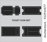 ticket icon set vector | Shutterstock .eps vector #522914377