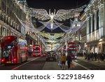 london   november 18  2016  red ... | Shutterstock . vector #522918469