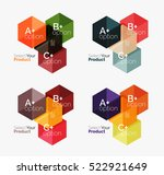 set of infographic templates... | Shutterstock .eps vector #522921649