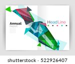 triangles and lines  annual... | Shutterstock . vector #522926407